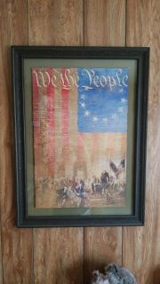 We the people wall hanging decor