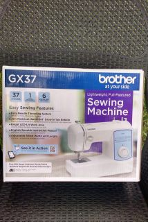New in Box: Brother GX37 Lightweight, Full-Featured Sewing Machine ~ $55.