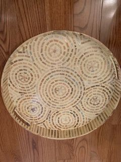 Shell decor tray