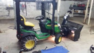 John Deere D 170 riding mower - snowblower