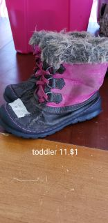 Toddler 11 girls winter boots
