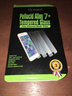 3 Pack Tempered Glass Screen Covers For IPhone 7/6s/6 Plus New.