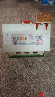 Fisher price school house vintage toy