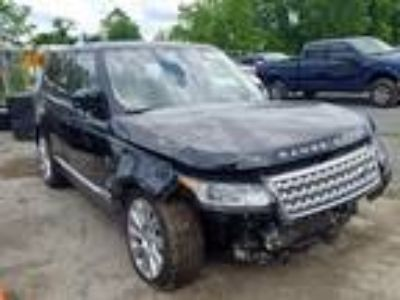 Salvage 2015 LAND ROVER RANGE ROVER SUPERCHARGED for Sale