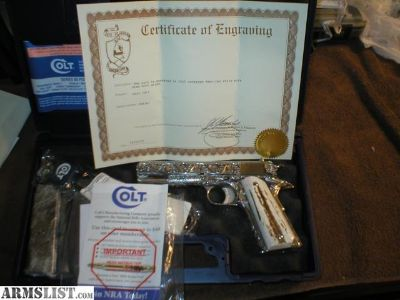 For Sale: Colt Engraved 1911
