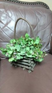 Grapevine Basket with Floral