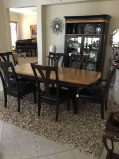 Dining Room Table and Chairs and China Hutch