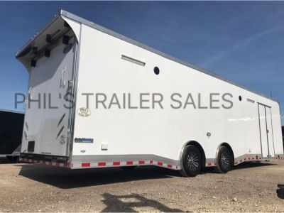 32' LOADED CONTINENTAL CARGO RACE TRAILER EXTRA HT ALL 12V L