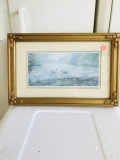 Two Swans Picture 15 x 10