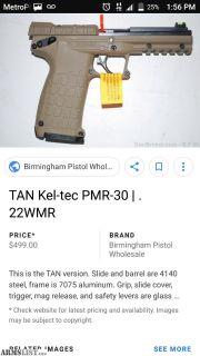 For Sale: Kel tec PMR 30