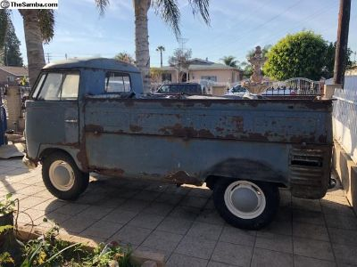 Early 1957 dove blue single cab with logo