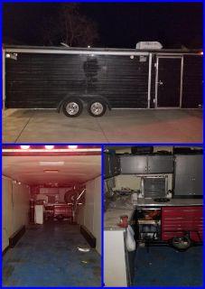 28' enclosed trailer, 26' box w/ cabinets, workb
