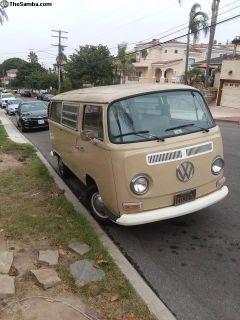 1969 VW type 2 bay window bus.