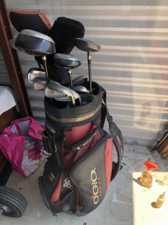 Used golf clubs in ogio bag