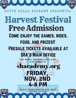 Harvest Festival (Free Admission)