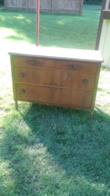 """Antique All Wood """" Waterfall"""" Chester Drawers"""