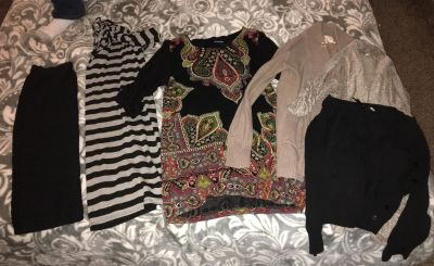 Dresses shirts and sweaters!