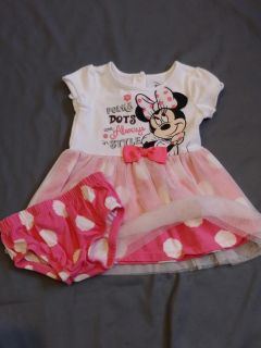 Adorable! Disney Minnie Mouse dress with diaper cover size 3-6 months P U ONLY