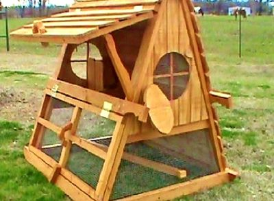 ON SALE- 5' Tall Portable Handcrafted Chicken Coop Hen House For 2-15 Chickens