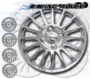 """Purchase Metallic Chrome 4pcs Set #611 15"""" Inches Hubcaps Hub Cap Wheel Cover Rim Skin motorcycle in La Puente, California, US, for US $30.95"""