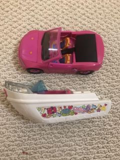 Vintage Polly pocket boat and convertible