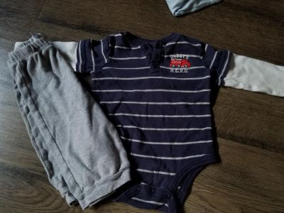 6-9 months. Lots of clothes