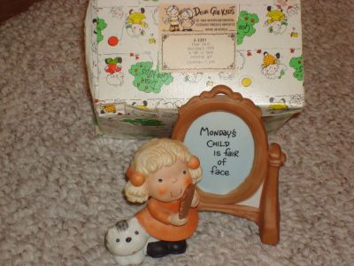 Enesco ceramic girl figurine