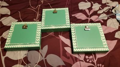 8 by 8 inch frames. 3$ each~ all ~3 for 9$