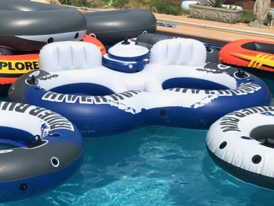 Intex River Run 2 /Sport Lounge Inflatable Water Float w/ Cooler