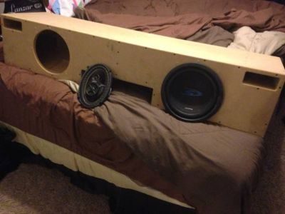 Customized Chevy Speaker Box for 2 10s