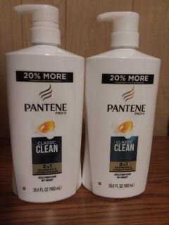 2 bottles Pantene 2in1 shampoo and conditioner