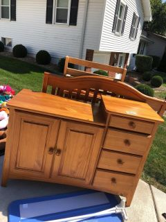 Crib and changing table $100