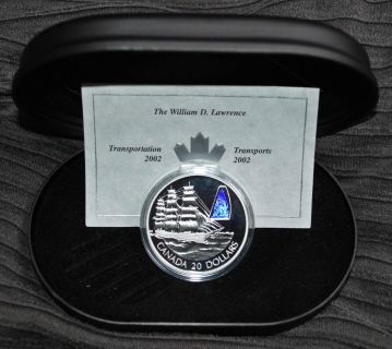2002 Canada $20 Sterling Silver Coin - William D Lawrence