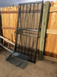 wrought iron screen door