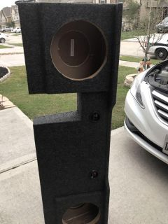 Big Speaker Box for two 10 in sub woofers for F150 truck