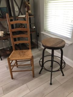Chair and/or Adjustable Barstool