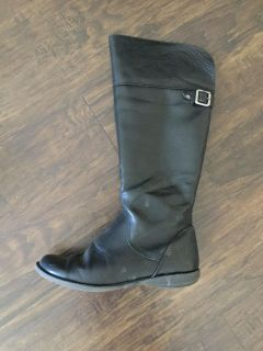 Black Kenneth Cole riding boots girls sz 5