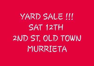 1/12: Large Yard Sale Includes a Truck!