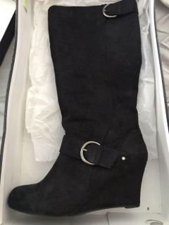 Size 9 Suede Boots - Like New