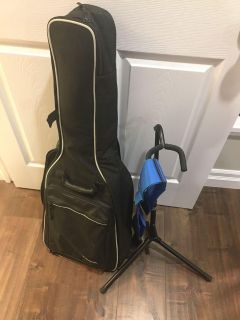Small Guitar Bag with Strap and Stand