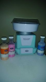 Cotton Candy maker only used 3 times has sugars for it