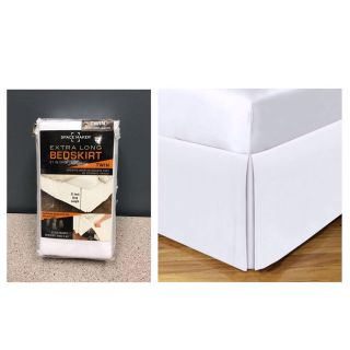 """Space Maker Tailored Underbed Storage 21"""" Bedskirt Twin"""