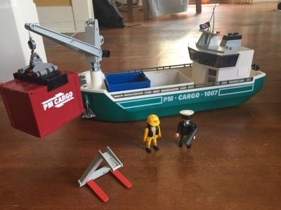 PLAYMOBIL #5253 Cargo Ship with Loading Crane