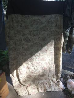 4 toile curtains panels