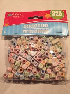New Package of 325 Alphabet Beads