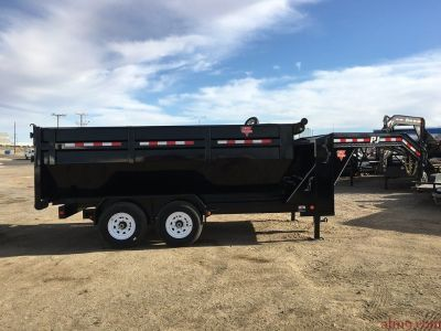 Roll Off Dump Trailer, Three Dump Bed Trailer, PJ Dump Trailer DR142-3