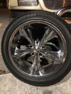 20 in panther rims with new pirelli tires