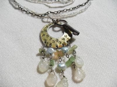 Antique Key on Repurposed Necklace