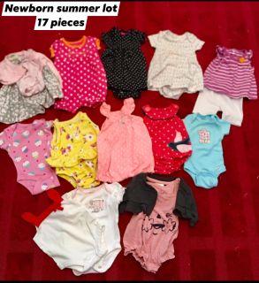 Newborn clothing lot. 17 pieces