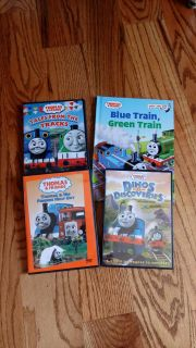 3 Thomas the Train DVD's in great condition & brand new Thomas & Friends Dr. Suess book